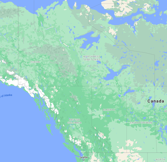 map image of western canada