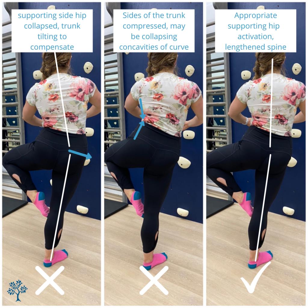 ballet dancer demonstrating technique for passé (single leg balance)